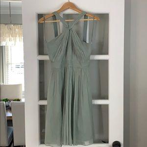 J. Crew Bridesmaid Dress in sea foam green